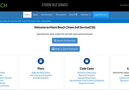 MIAMI BEACH CITIZEN ACCESS PORTAL (CAP)